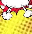 Hanging Speech Bubble Cloud Pop-Art Style vector image vector image