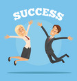 happy smiling successful business office workers vector image vector image