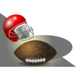 helmet and ball vector image vector image