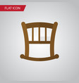 isolated bed flat icon infant cot element vector image