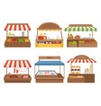 local market street food places stands outdoor vector image vector image