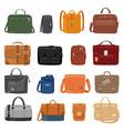man bag men fashion handbag or business vector image vector image