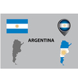 Map of Argentina and symbol vector image vector image