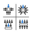 meeting and conference icon set vector image vector image
