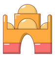 mosque icon cartoon style vector image vector image