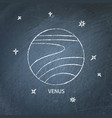 planet venus icon on chalkboard vector image vector image