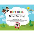 Preschool Elementary school Kids Diploma template vector image vector image
