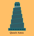 Qasr amra in jordan flat cartoon style historic