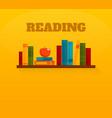 Reading books flat icon vector image