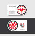 red business card for manufacturer of wheel rims vector image vector image