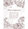 rose hand drawn vector image vector image