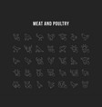 set line icons meat and poultry vector image