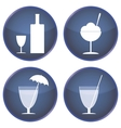 set of buttons for cafes and bars vector image vector image