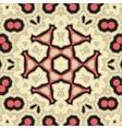 Square Yoga Mandala Pattern Tile for greeting card vector image vector image