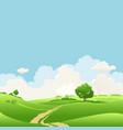 summer seasonal landscape vector image vector image
