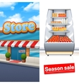 Supermarket Banner Set vector image