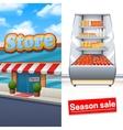 Supermarket Banner Set vector image vector image