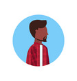 teenage guy african american man face avatar male vector image