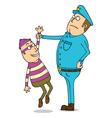 Thief is under arrest vector image vector image