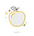 Thin line icons Apple vector image vector image