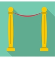 Two pillars icon flat style vector image vector image