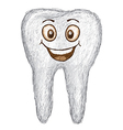 unique style of happy white tooth isolated in vector image vector image