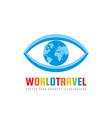 world travel - concept logo template vector image