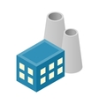 Nuclear power plant isometric 3d icon vector image