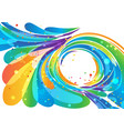 abstract bright circle frame background vector image