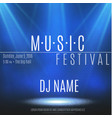 festival poster with spotlight concert party vector image
