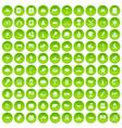 100 north america icons set green circle vector image vector image