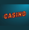 3d retro casino sign vector image