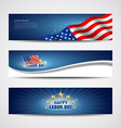 Labor day USA banner design set