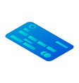 abstract credit card icon isometric style vector image