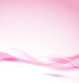 Abstract pink swoosh wave for wedding background vector image