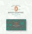 abstract spicy coffee logo and business vector image vector image