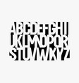 awesome negative space alphabet black paper vector image vector image