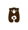 bear cub baby donuts logo icon