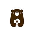 bear cub badonuts logo icon vector image vector image