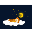 bear sleeping vector image vector image