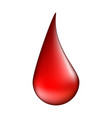 blood drop symbol icon design isolated on white vector image