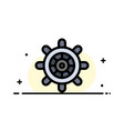 boat ship wheel business flat line filled icon vector image