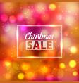 bokeh pattern christmas sale defocused light vector image vector image