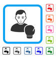 boxing sportsman framed positive icon vector image vector image