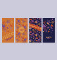 bright orange and violet star poster templates vector image