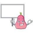 bring board rose apple character cartoon vector image vector image