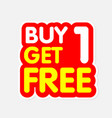 buy1 get1 free red yellow background image vector image vector image