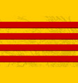 catalonia grunge textured flag vector image