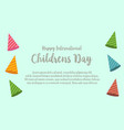childrens day design greeting card vector image vector image