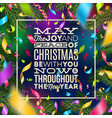 christmas - holiday greeting and multicolored vector image vector image